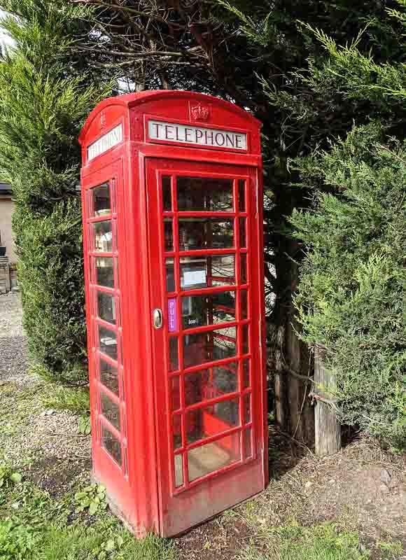 A phone kiosk