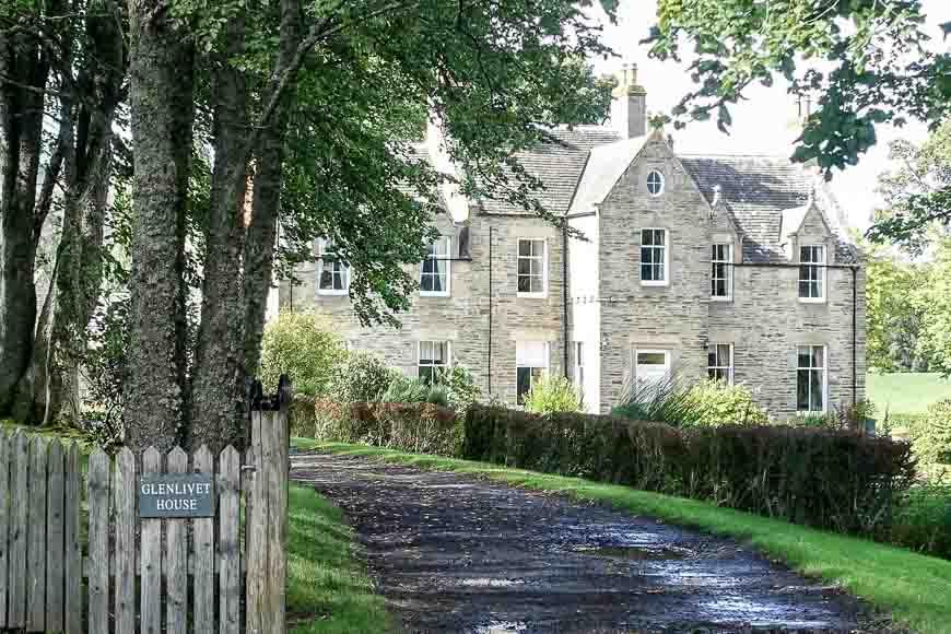 Glenlivet House on the Speyside Way
