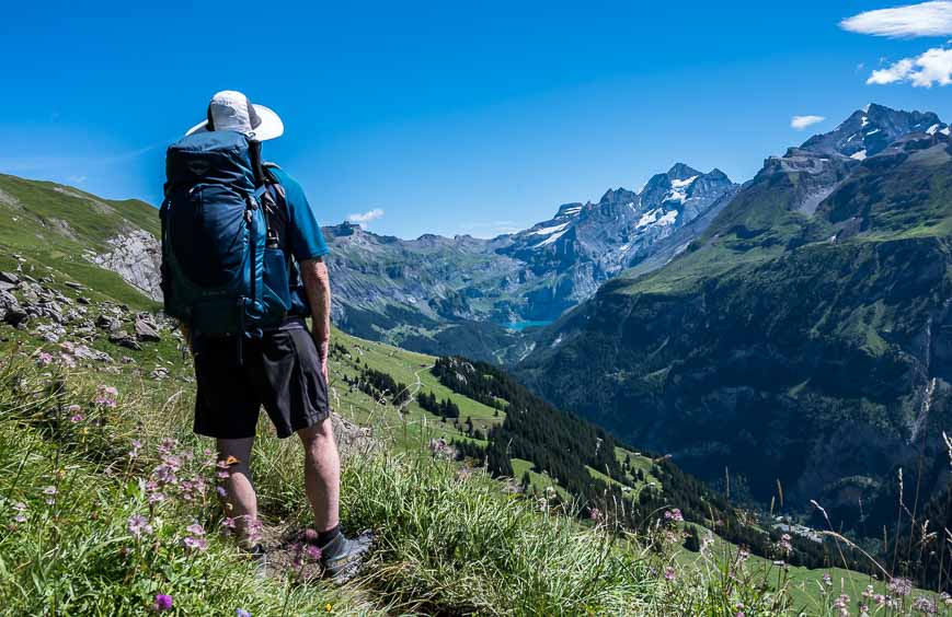 Looking out towards Oeschinensee