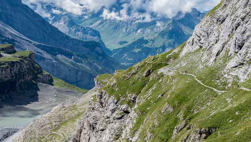 It's a 1700 m descent to Kandersteg