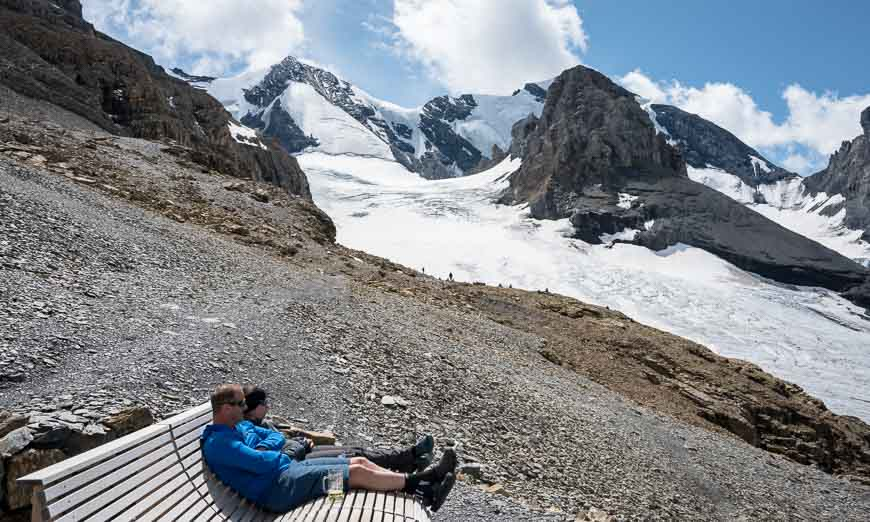 Hanging out enjoying the view of the glacier