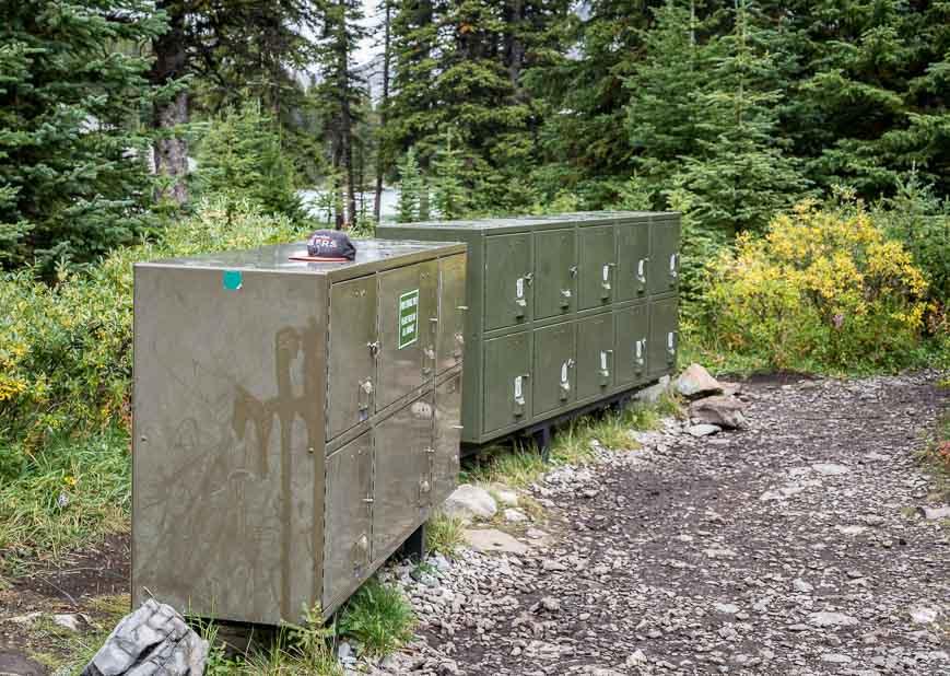 Bear boxes at Elbow Lake Campground