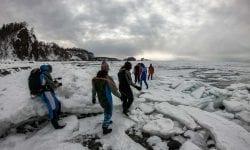 Drift Ice Walking In Hokkaido