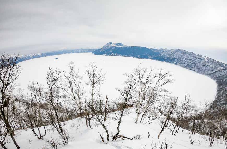 The caldera at Lake Mashu