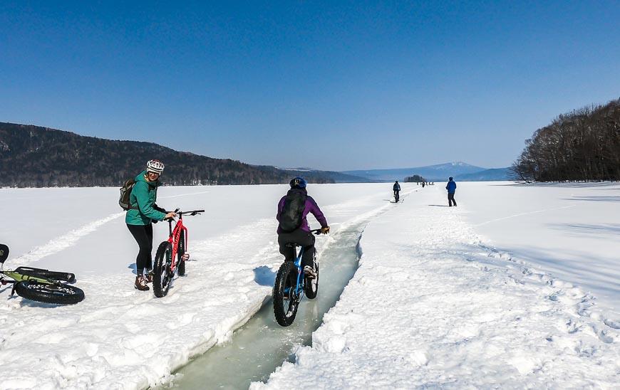 Biking on Lake Akan