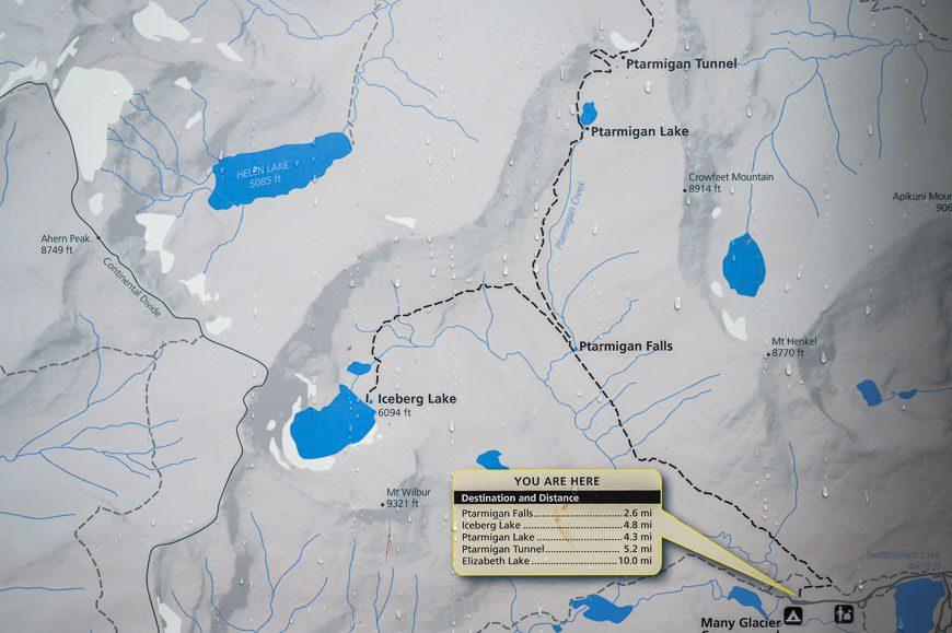 Map of the Iceberg Lake trail