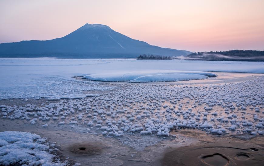Lake Akan frost flowers