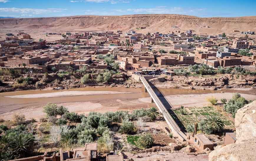 Pass through a touristy section to get to Ait Benhaddou
