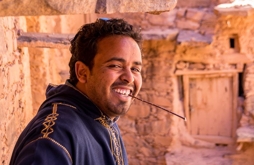 Mustafa our driver in Morocco