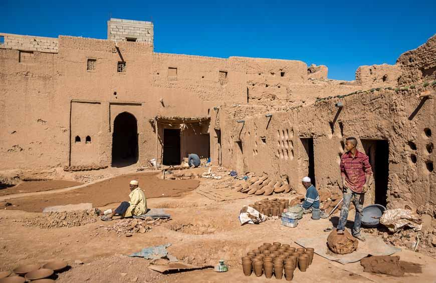 Making pottery in Amezrou