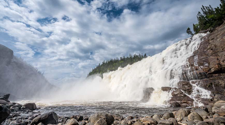35 metre high Manitou Falls