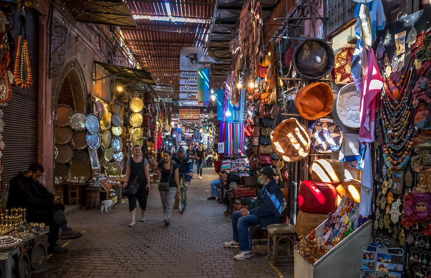 The souk in Marrakech - one of the places to visit in Morocco