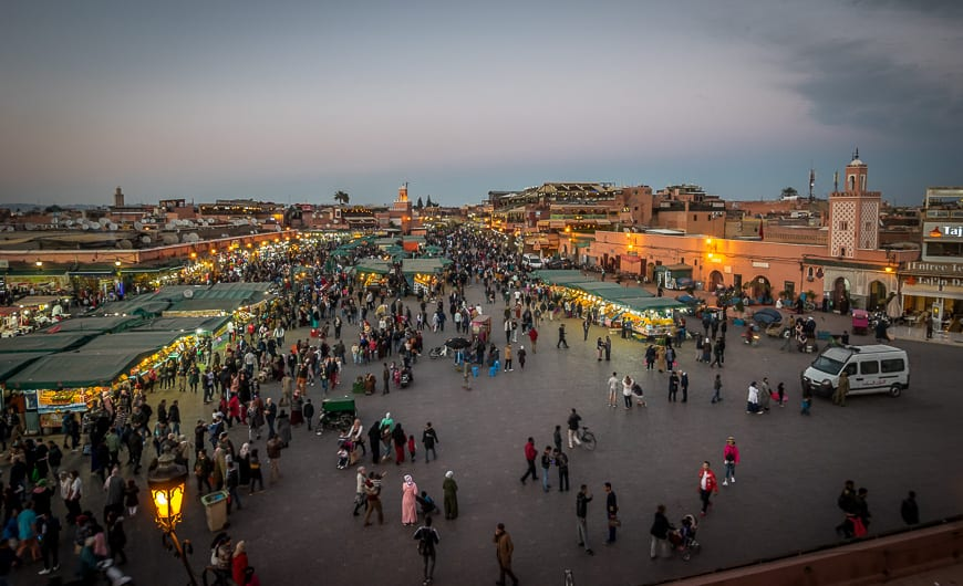 Sunset Over Djemaa El-Fna
