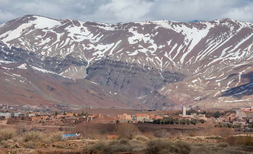 Quite A Backdrop For The Berber Villages