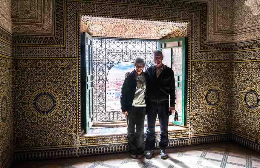 Incredible tile detail inside the kasbah in Telouet