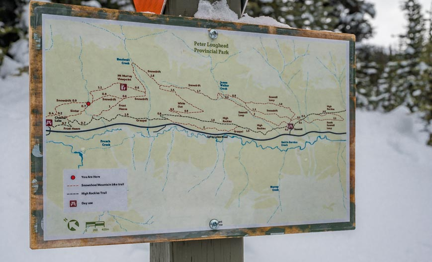 Map of the Sawmill Trails