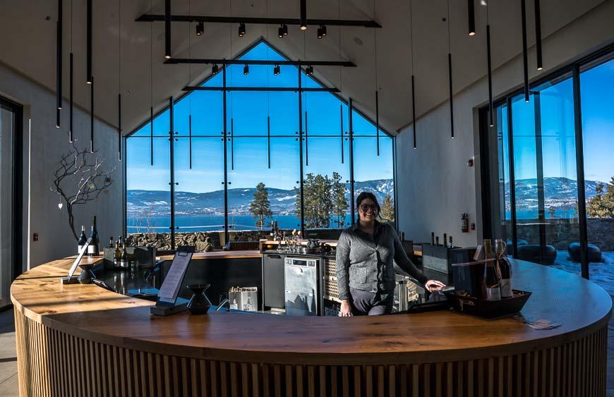 The beautiful tasting room at CedarCreek Estate Winery