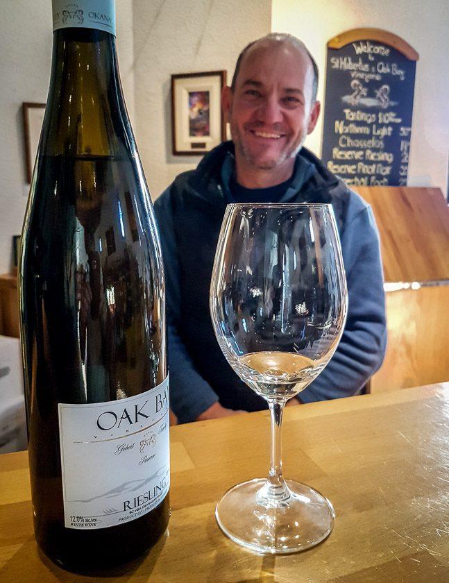 Tasting at St. Hubertus & Oak Bay Estate Winery