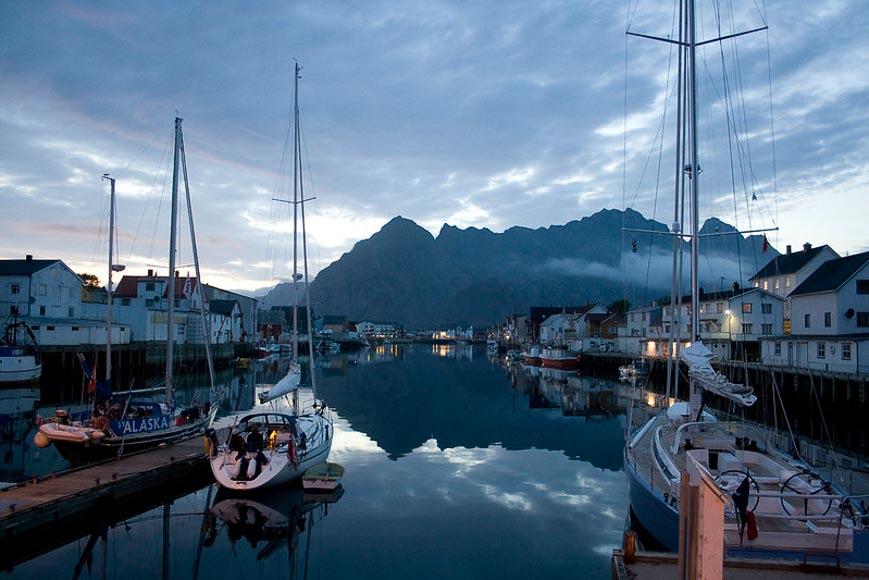 Web cam views of Henningsvær in Norway's Lofoten archipelago