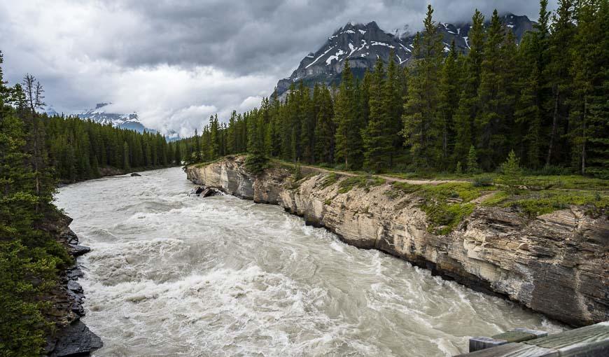Cross the North Saskatchewan River at 1.1 km