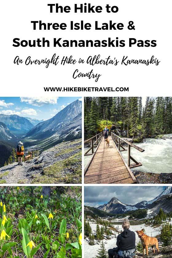 The hike to Three Isle Lake & South Kananaskis Pass