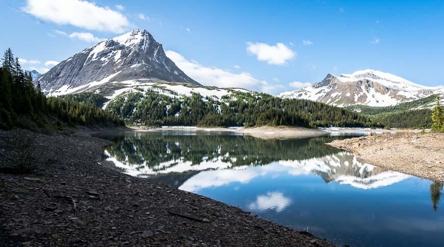 Hike along a section of Three Isle Lake