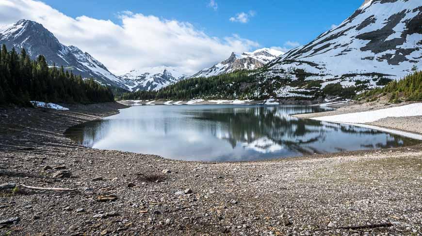 At the end of Three Isle Lake