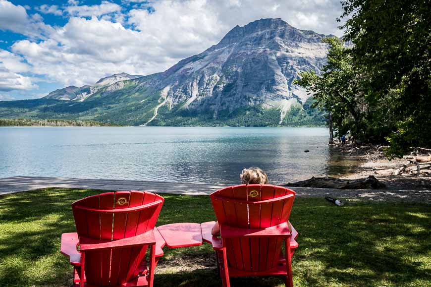 Post paddle enjoy a red chair moment on Linnet Lake