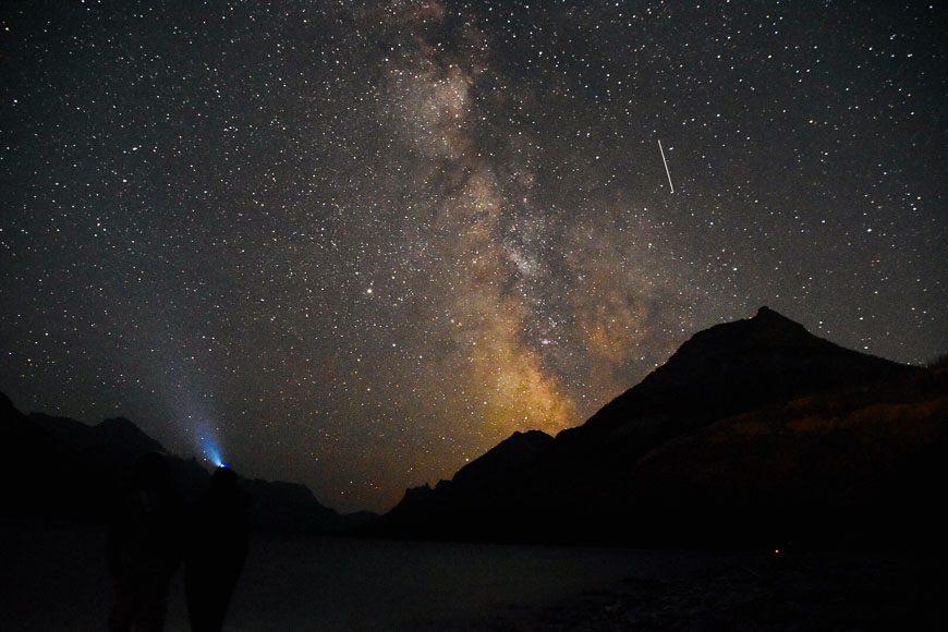 The Waterton night sky - Photo credit: Kris Robinson, Dark Sky Guides