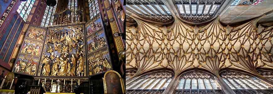 Art inside St. Mary's Basilica