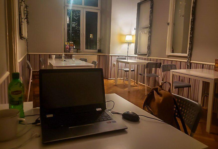 My workstation in my hostel