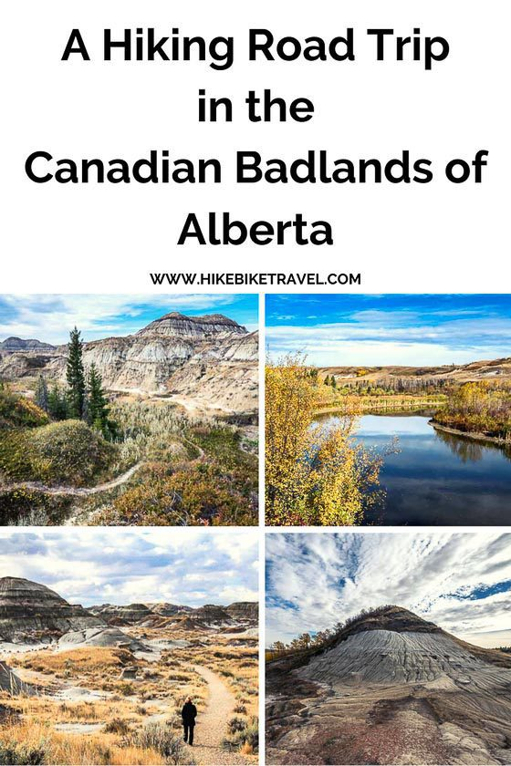 A hiking road trip in the Canadian Badlands of Alberta