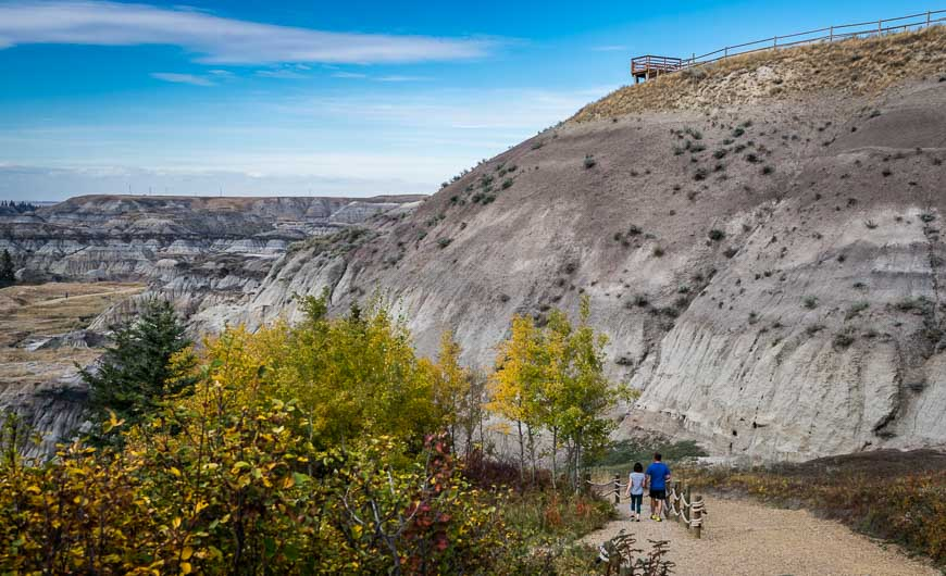 The recently constructed trail into Horseshoe Canyon
