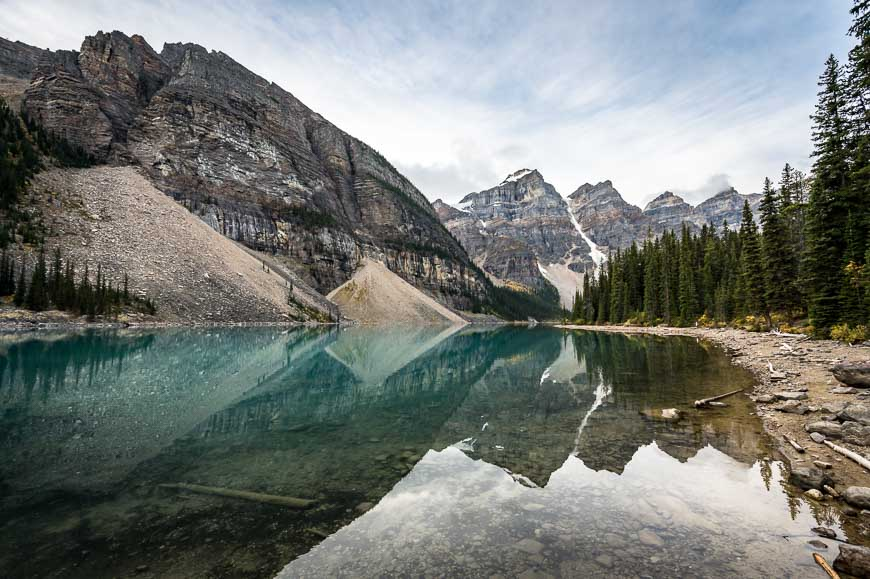 The Larch Valley Hike Starts Beside Moraine Lake
