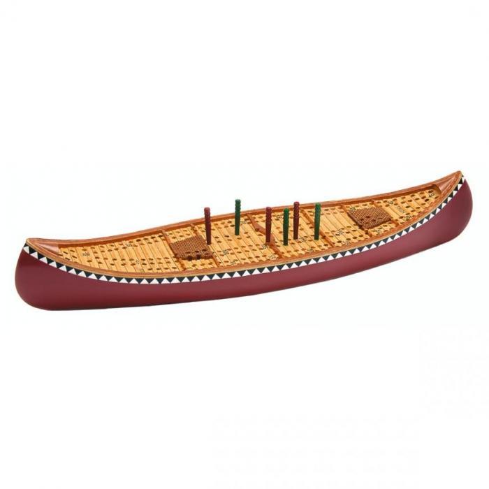Canoe cribbage board