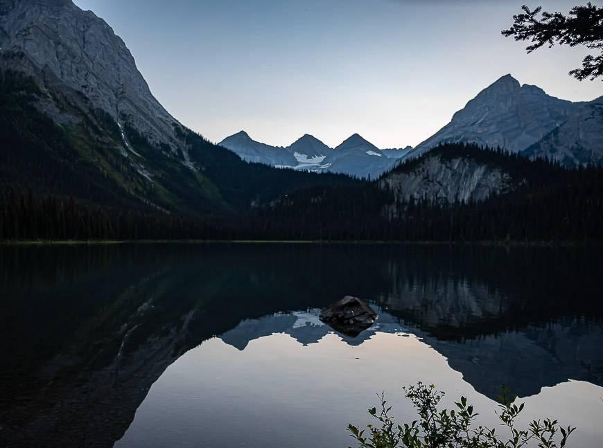 Lower Elk Lake after sunset