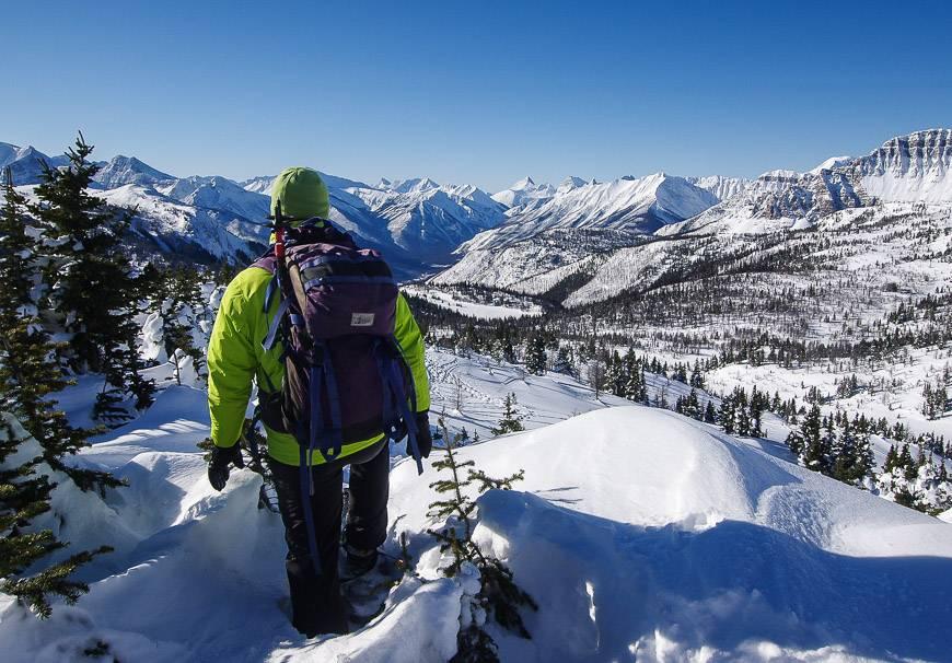 Snowshoeing in Banff at Sunshine