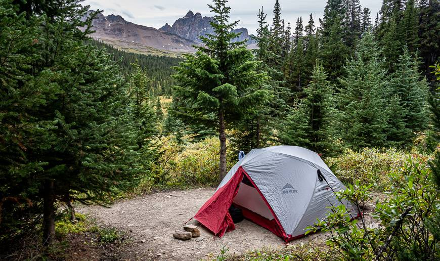 You won't find tent platforms on the Tonquin Valley hike