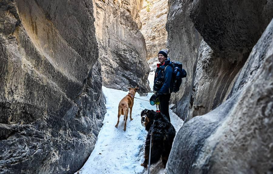 The short but beautiful Slot Canyon on the Jura Creek hike