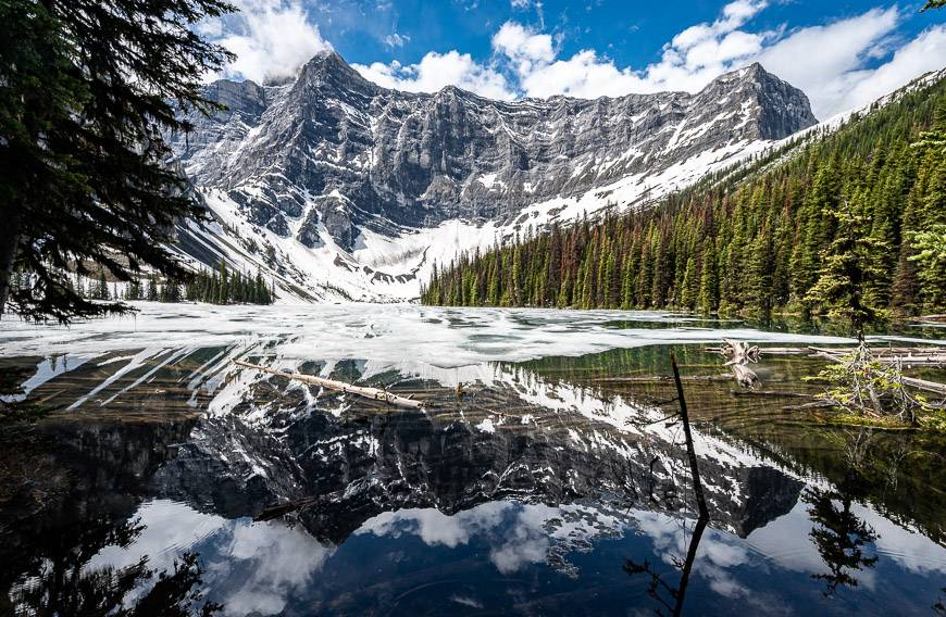 Rawson Lake in mid-June when the ice is leaving
