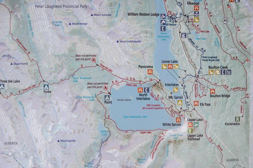 Rawson Lake location map