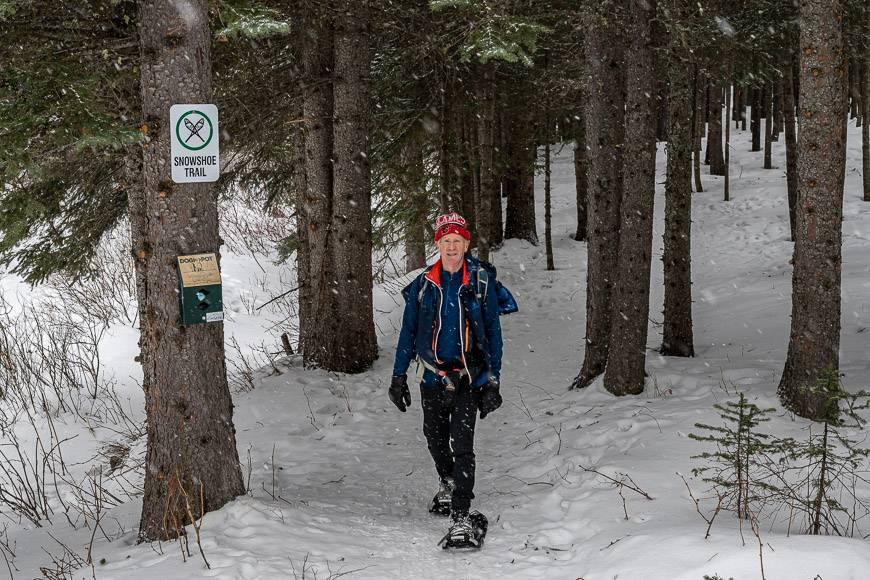 Lovely snowshoeing at Castle Ski Resort