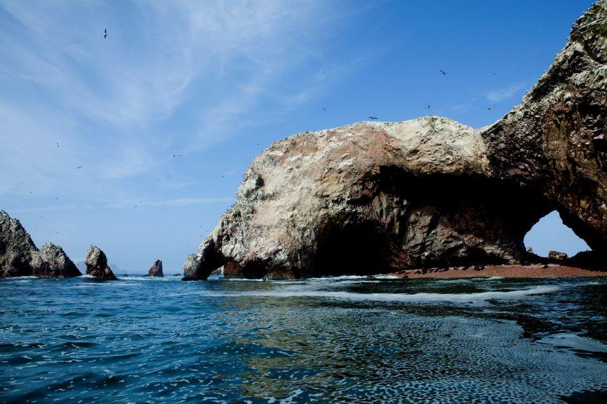 Interesting rocks and lots of wildlife to be seen on Islas Ballestas