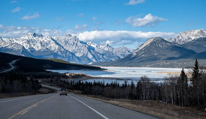 Driving north towards Nordegg Alberta