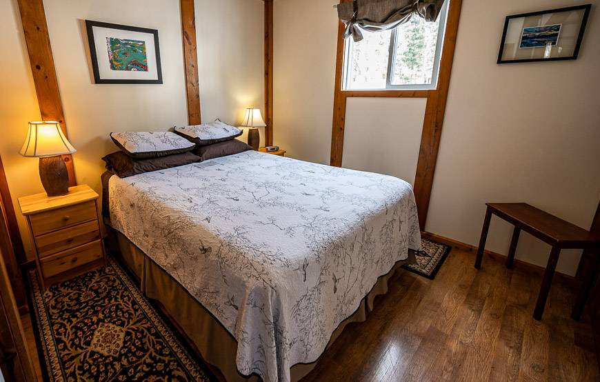 Our comfortable bedroom at Expanse Cottages