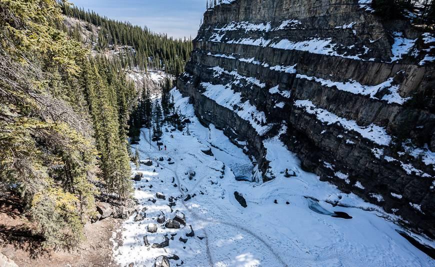 Looking down from Cescent Falls near Nordegg Alberta