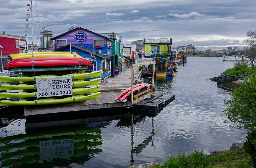 Victoria's colourful inner harbour