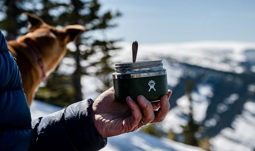 Snack In A HydroFlask Insulated Jar With A View