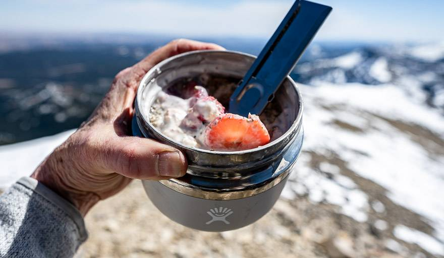 Breakfast for lunch in the HydroFlask insulated food jar
