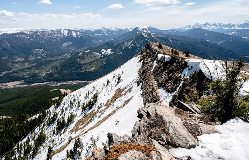 Views down Raspberry Ridge